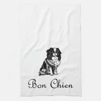 Vintage Bon Chien Good Dog Pet Kitchen Towel