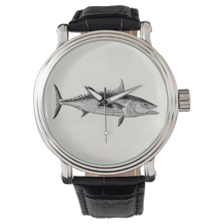 Vintage Bonito Fish - Aquatic Fishes Template Watch