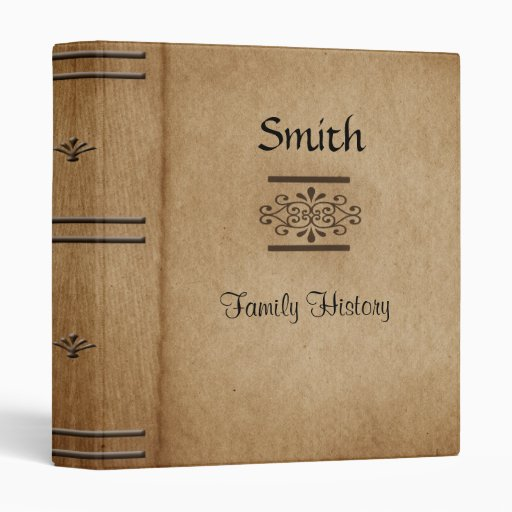 vintage book cover family history binder