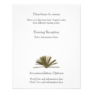 Vintage Book Directions and Accommodations Flyer