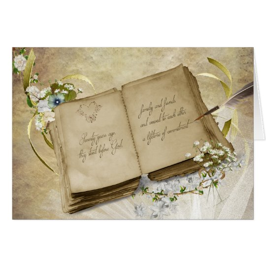 Vintage book for 70th Wedding Anniversary Card