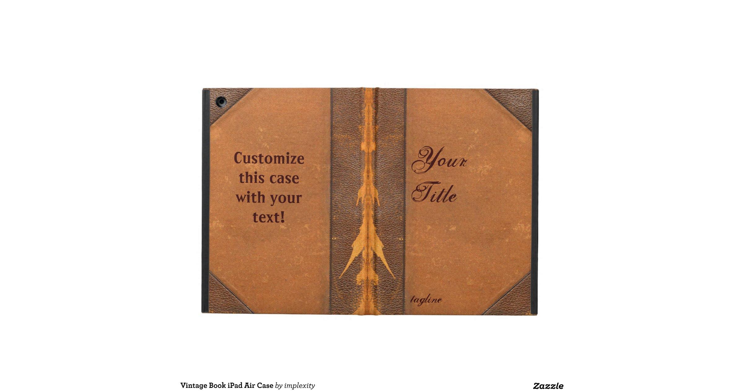 Vintage Book Cover For Ipad Air : Vintage book ipad air case zazzle