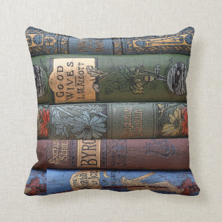 Vintage Book Library Collection Cushion