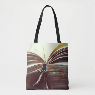 Vintage book open tote bag