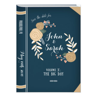 Vintage Book Save the Date Card