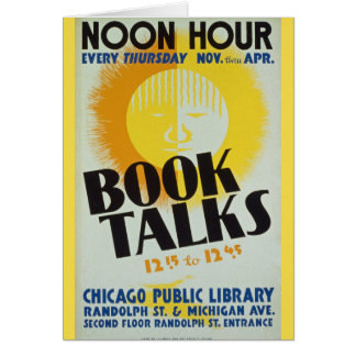 "Vintage ""Book Talks"" Greeting Card"