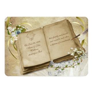 Vintage Book Vow Renewal Invite
