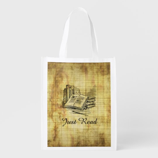 Vintage Books Grocery Bags