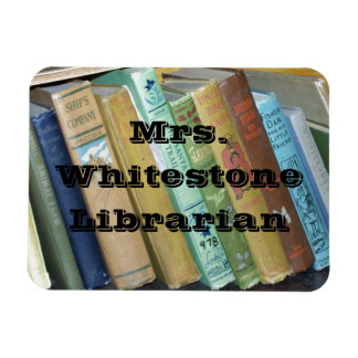 Vintage Books Library or English Department Flat M Rectangular Photo Magnet
