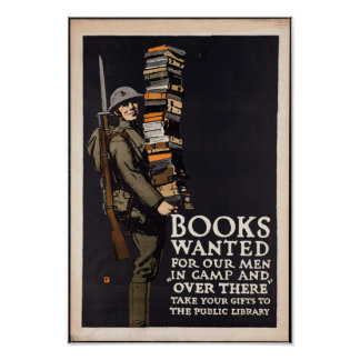 Vintage Books Wanted Poster