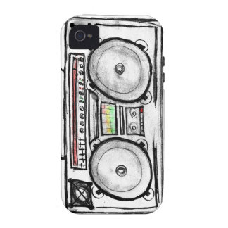 Vintage Boom Box Case-Mate iPhone 4 Covers