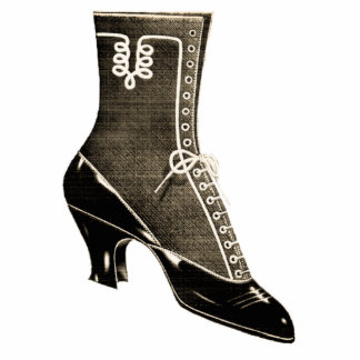 Vintage Boot Standing Photo Sculpture