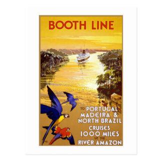 Vintage Booth Line Amazon Postcard