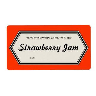Vintage Border Home Canning Jar Label Template Shipping Label