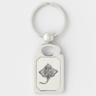 Vintage Bordered Ray Stingray - Aquatic Template Keychain