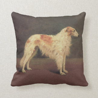 Vintage Borzoi Throw Pillow