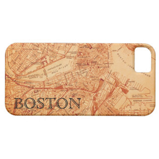 Vintage Boston Map iPhone Case