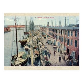 Vintage Boston Wharf Postcard