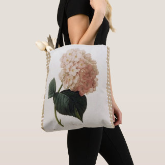 Vintage_Botanical-Art_Checks_Floral-Totes-Bags Tote Bag