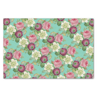 Vintage Botanical Blossom Country Chic Tissue Paper