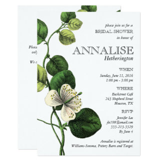 Vintage Botanical Chic Bridal Shower Invitations