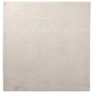 Vintage Botanical Cream Beige Text Parchment Paper Napkin