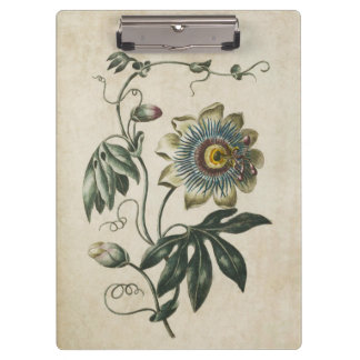 Vintage Botanical Floral Passion Flower Clipboard