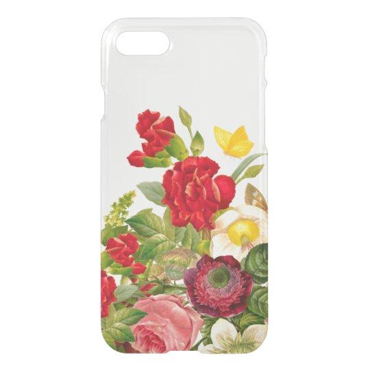 Vintage Botanical Floral Rose Clear iPhone 8/7 Case