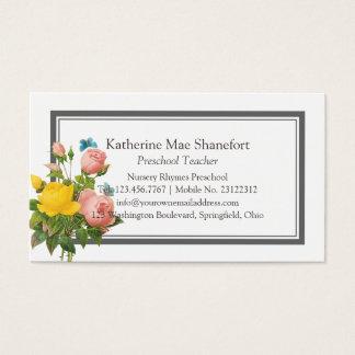 Vintage Botanical Florals Business Card
