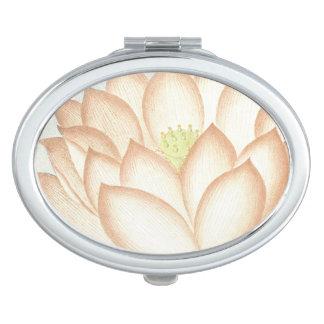 Vintage Botanical Flowers Floral Garden Mirrors For Makeup