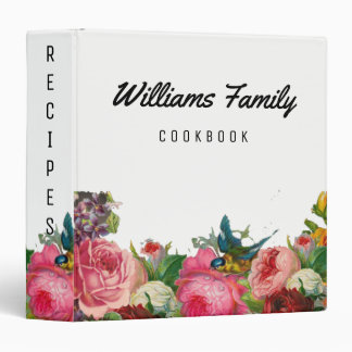 Vintage Botanical Garden Flower Recipes Book Binders