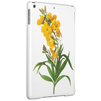 Vintage botanical illustration, yellow flowers. case for iPad air