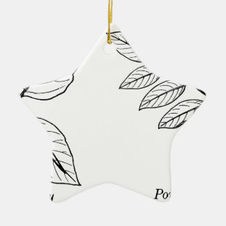 Vintage Botanical Leaves Ceramic Ornament