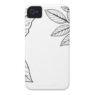 Vintage Botanical Leaves iPhone 4 Case
