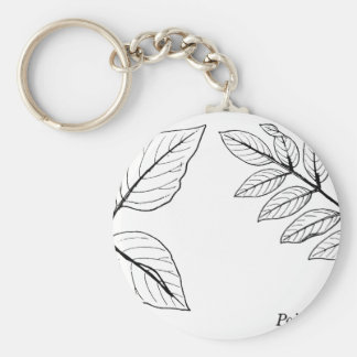 Vintage Botanical Leaves Keychain