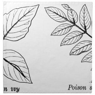 Vintage Botanical Leaves Napkin