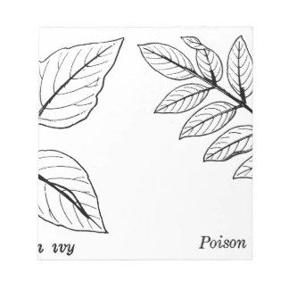 Vintage Botanical Leaves Notepad
