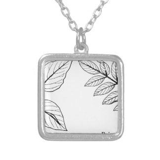 Vintage Botanical Leaves Silver Plated Necklace