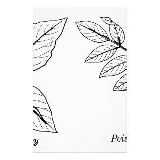 Vintage Botanical Leaves Stationery