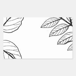 Vintage Botanical Leaves Sticker
