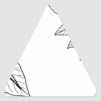 Vintage Botanical Leaves Triangle Sticker