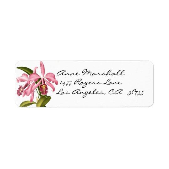 Vintage Botanical Orchids Avery Label