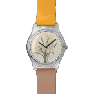 Vintage Botanical Redoute Narcissus May28th Watch