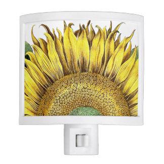 Vintage Botanical Sunflower Flower Night Light