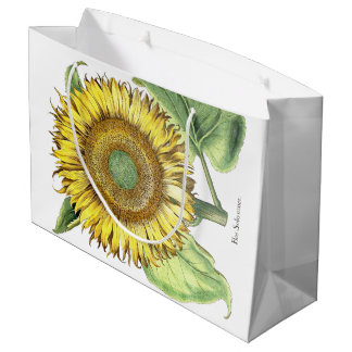 Vintage Botanical Sunflower Flowers Floral Bag
