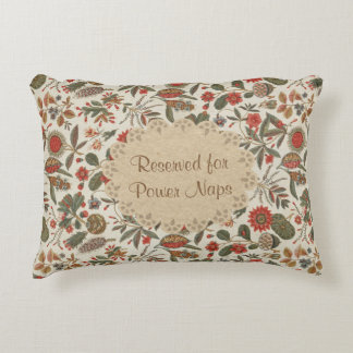 Vintage Botanical Tapestry Reserved for Power Naps Decorative Pillow