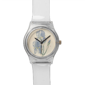 Vintage Botanical Watercolor Irises May28th Watch