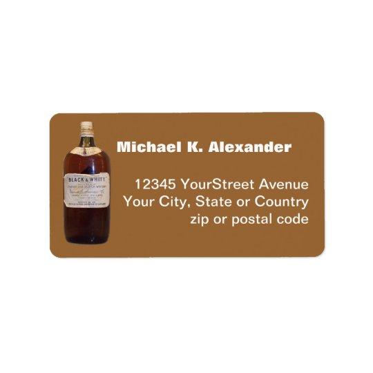 Vintage Bottle Scotch Whiskey Label