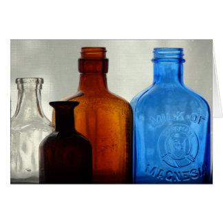 Vintage Bottles Card