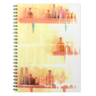"Vintage Bottles ""Shabby Chic"" Notebook"